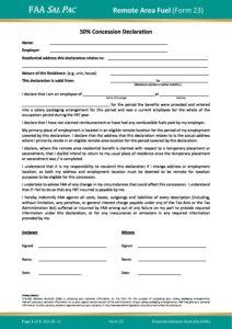 Form 23 – Remote Area Fuel Declaration v1