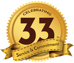 33 Years of Service & Commitment