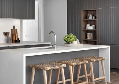 Kitchen with 40mm waterfall edge
